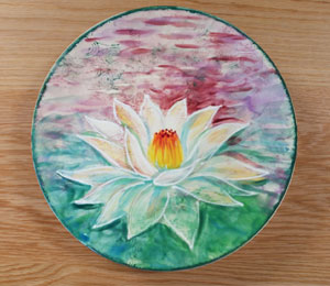 Cary Lotus Flower Plate