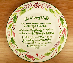 Cary The Giving Plate