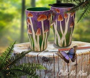 Cary Mushroom Mugs