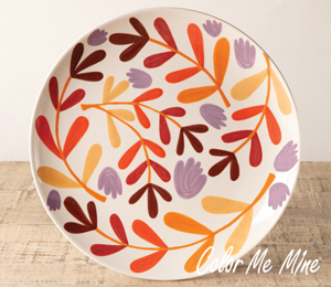 Cary Fall Floral Charger