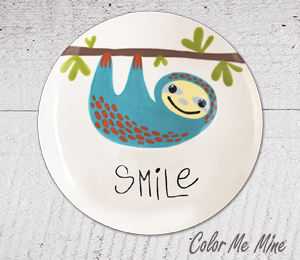 Cary Sloth Smile Plate