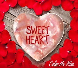 Cary Candy Heart Plate
