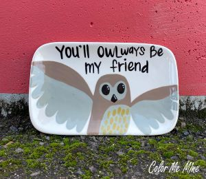 Cary Owl Plate