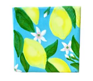 Cary Lemon Square Tile