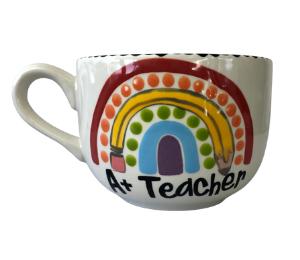 Cary Polka Dot Rainbow Mug